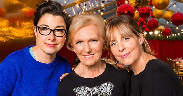 Mary Berry reunites with Mel and Sue for Christmas show