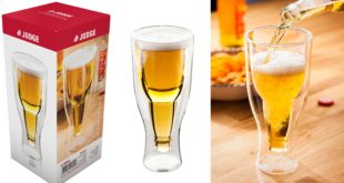 Welcome to the new Judge Beer Side Down Double Walled Glass