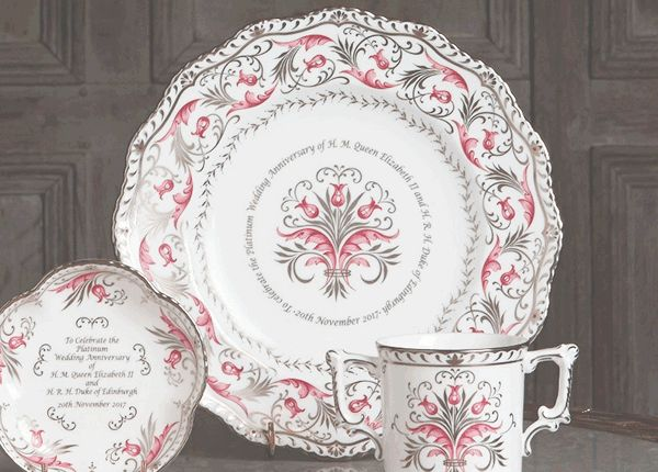 The Queen and Duke of Edinburgh celebrate the 70th anniversary of their marriage this year. To mark the occasion Royal Crown Derby ... & Royal Crown Derby celebrates Queenu0027s platinum wedding anniversary ...