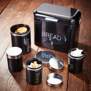 Judge 5 Piece Bread Bin And Canister Set Housewares