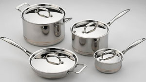 Professional cookware features five layers