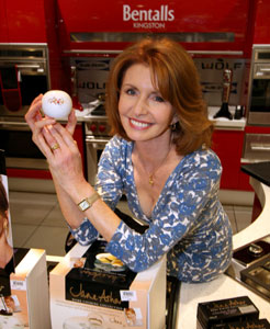 Jane Asher promotes at London stores