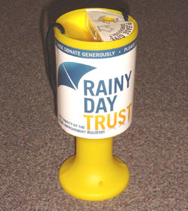 Rainy Day Trust launches collecting tins
