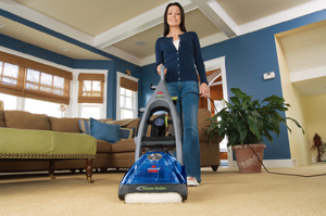 Bissell carpet cleaner dries in 30 minutes
