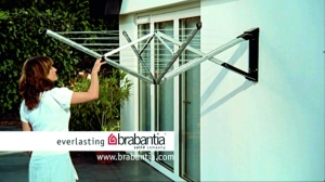 Brabantia puts the WallFix clothes dryer back on television