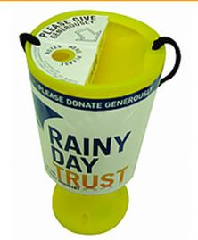 Put a tin by the till and help Rainy Day Trust