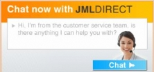 JML website offers live chat and new brands