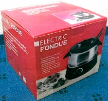 Electric shock risk with fondue set