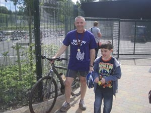 Richard Gilbert raises £500-plus for charity by completing Triathlon