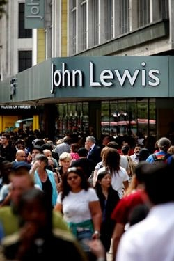 John Lewis benefits from warm spring weather
